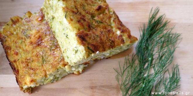 Πίτα με κολοκυθάκια (κολοκυθόπιτα) χωρίς φύλλο