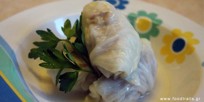 λαχανο ντολμάδες με αυγολέμονο