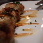 μπιφτεκάκια σφυρίδας με bbq sauce