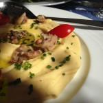 kouzina φάβα με μαριναρισμένο χταπόδι